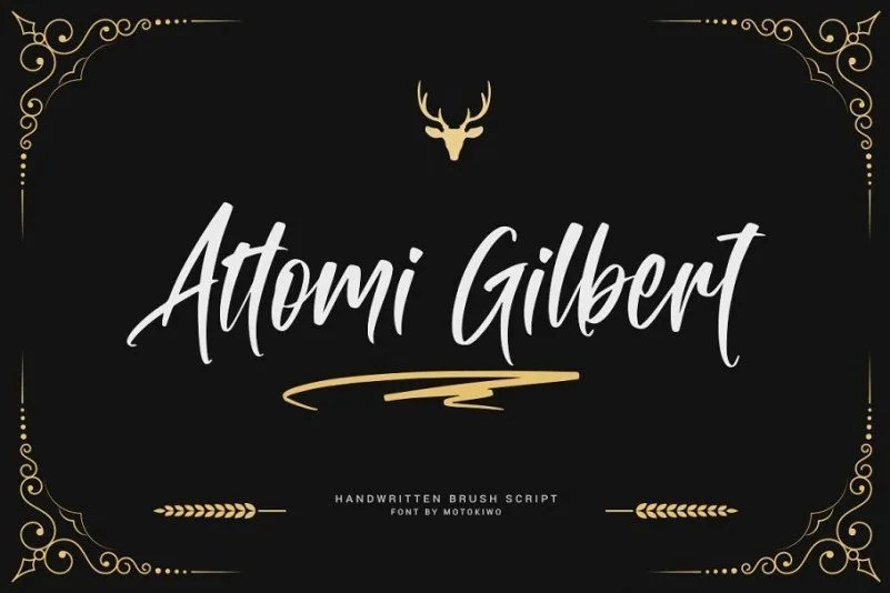 Attomi Gilbert [1 Font] | The Fonts Master