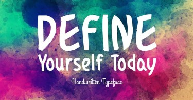 Define Yourself Today [1 Font] | The Fonts Master