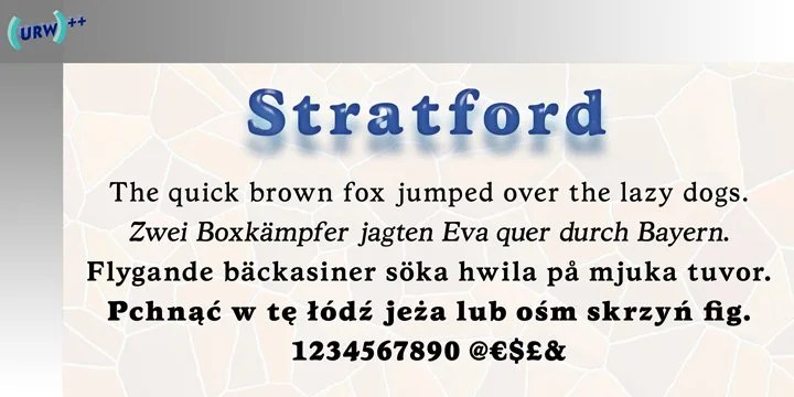 Stratford Urw [4 Fonts] | The Fonts Master