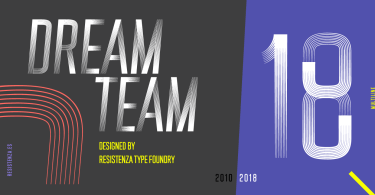 Dreamteam [4 Fonts] | The Fonts Master