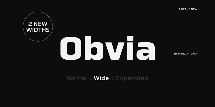 Obvia Wide [9 Fonts] | The Fonts Master