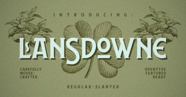 Lansdowne [2 Fonts] | The Fonts Master