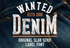 Wanted Denim [6 Fonts] | The Fonts Master