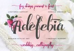 Adefebia [1 Font]   The Fonts Master