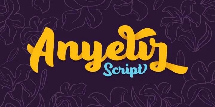 Anyelir Script [10 Fonts] | The Fonts Master