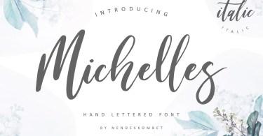 Michelles Script [2 Fonts] | The Fonts Master