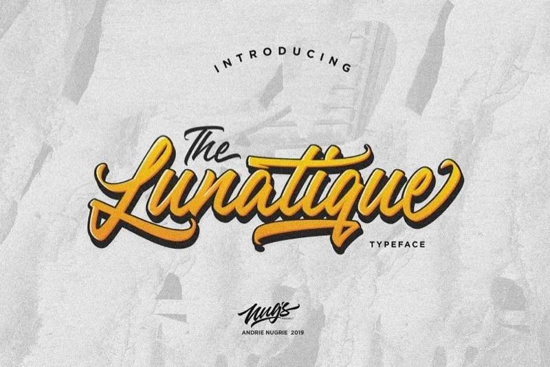 The Lunatique [1 Font]   The Fonts Master