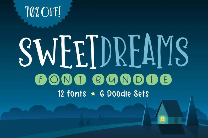 Sweet Dreams Font Bundle [30 Fonts]