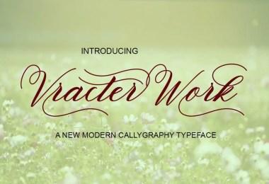 Vracter Work [2 Fonts]