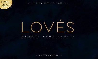 Loves Classy Sans Family [9 Fonts] | The Fonts Master