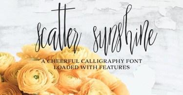 Scatter Sunshine [2 Fonts] | The Fonts Master