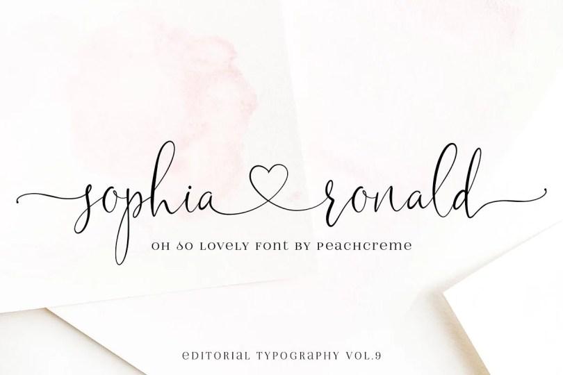 Sophia Ronald [1 Font]   The Fonts Master