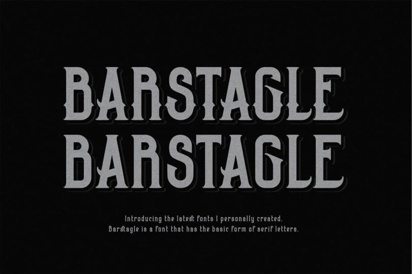 Barstagle [2 Fonts]   The Fonts Master