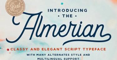 Almerian Script [1 Font] | The Fonts Master