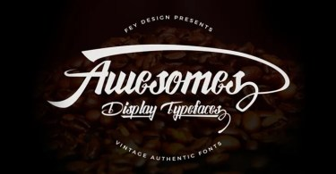 Awesome [4 Fonts]