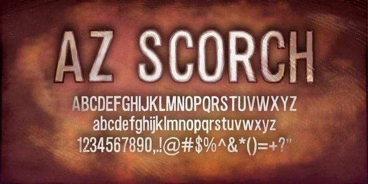 AZ Scorch [4 Fonts]