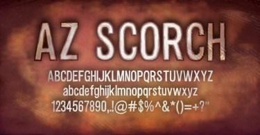 Az Scorch [4 Fonts] | The Fonts Master