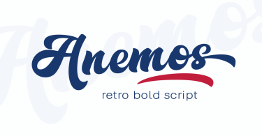 Anemos [1 Font] | The Fonts Master
