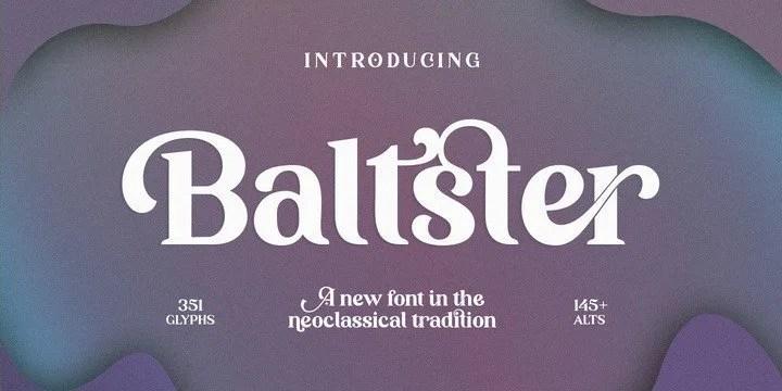 Baltster [1 Font] | The Fonts Master