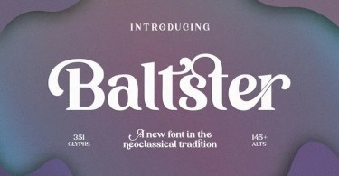 Baltster [1 Font] | The Fonts Master