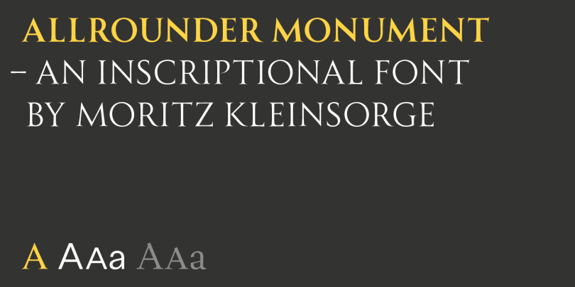 Allrounder Monument [3 Fonts] | The Fonts Master