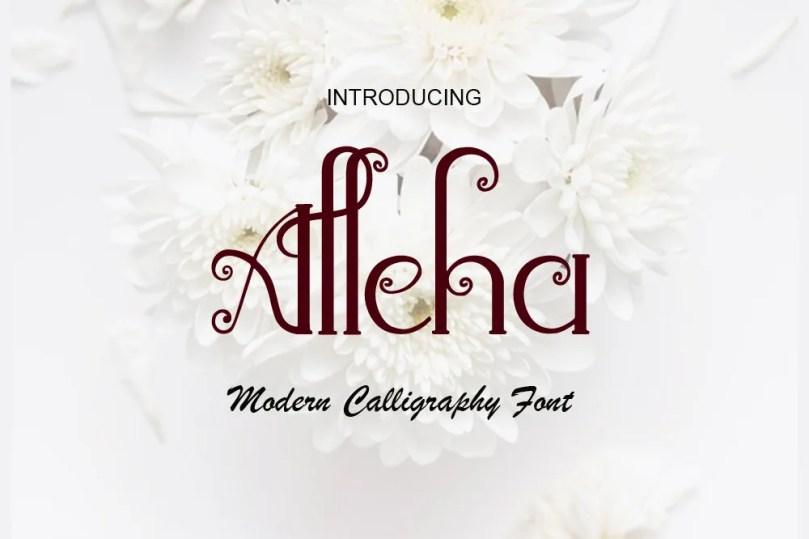 Alleha [1 Font] | The Fonts Master