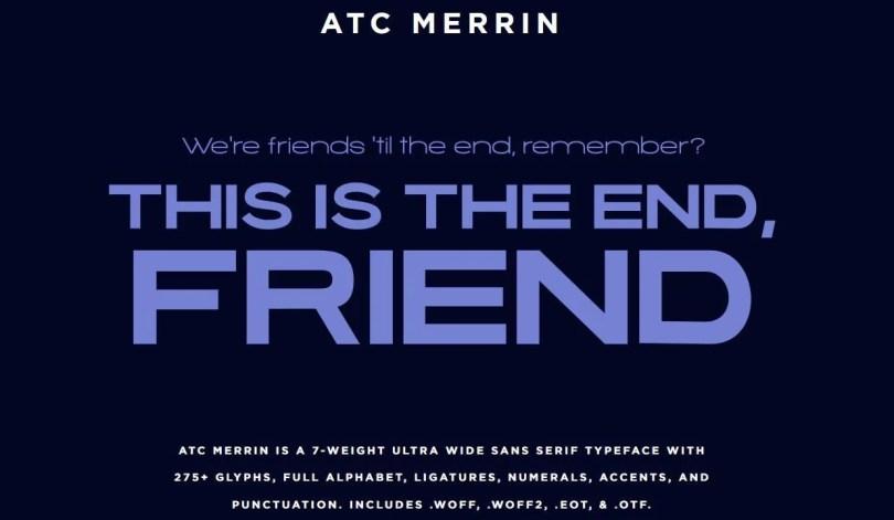 Atc Merrin [7 Fonts]   The Fonts Master