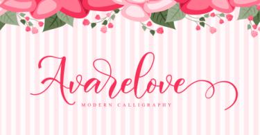 Avarelove Script [1 Font]