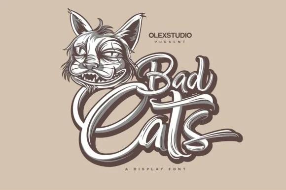 Bad Cats [1 Font] | The Fonts Master
