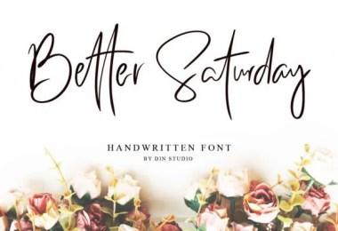 Better Saturday [1 Font]