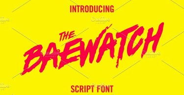 Baewatch [1 Font] | The Fonts Master