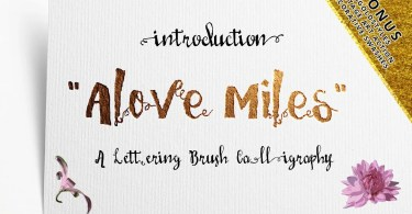 Love Mile [6 Fonts] | The Fonts Master