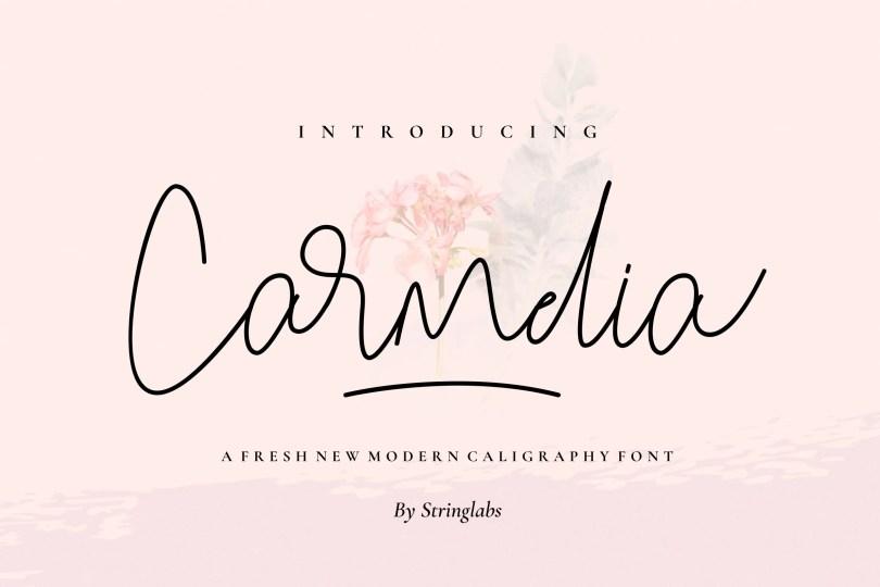 Carmelia [1 Font] | The Fonts Master