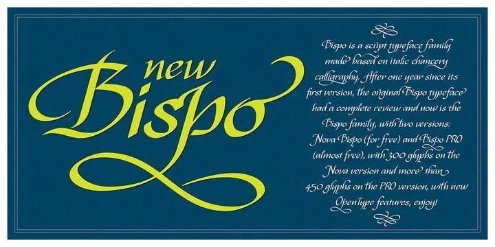 Bispo [2 Font] | The Fonts Master