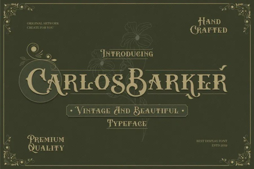 Carlos Barker [2 Font]   The Fonts Master