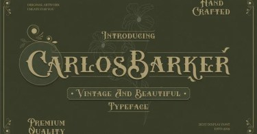 Carlos Barker [2 Font] | The Fonts Master
