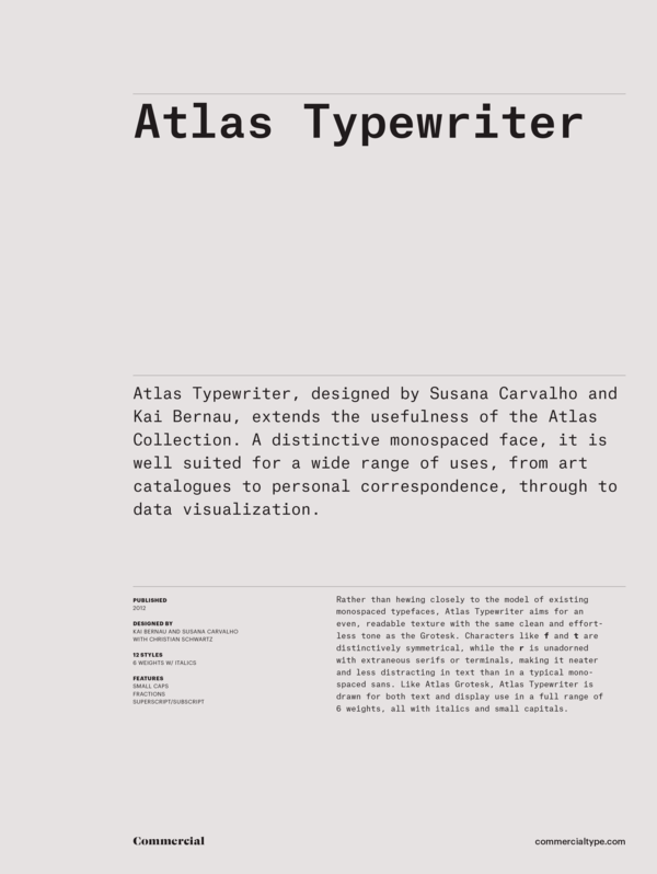 Atlas Typewriter Super Family [12 Fonts]