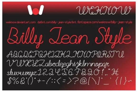 Billie Jean [2 Fonts] | The Fonts Master