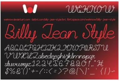 Billie Jean [2 Fonts]