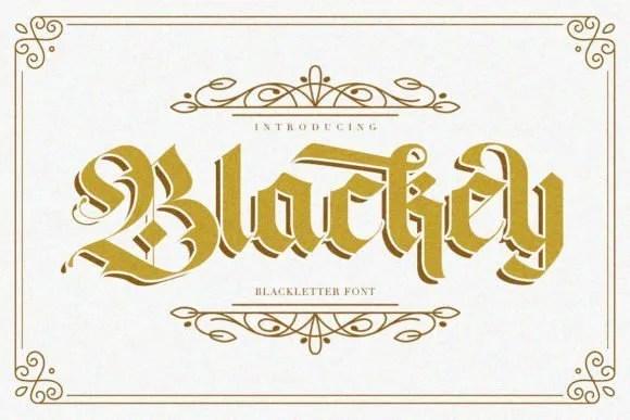 Blackey [2 Fonts]   The Fonts Master