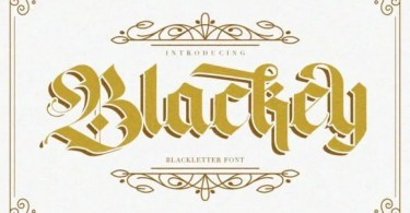 Blackey [2 Fonts] | The Fonts Master