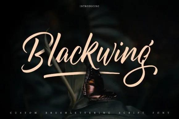 Blackwing [1 Font] | The Fonts Master