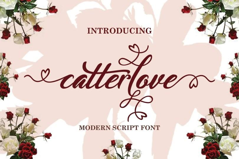 Catterlove [1 Font]   The Fonts Master