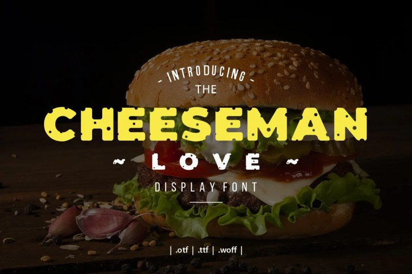 Cheeseman Love [1 Font] | The Fonts Master