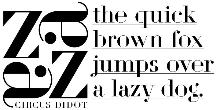 Circus Didot [1 Font] | The Fonts Master