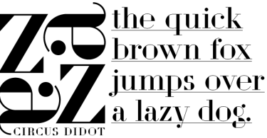 Circus Didot [1 Font] | The Fonts Master
