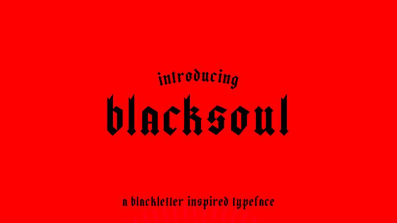 Blacksoul [1 Font] | The Fonts Master