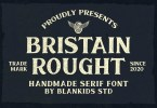 Bristain Rought [1 Font] | The Fonts Master