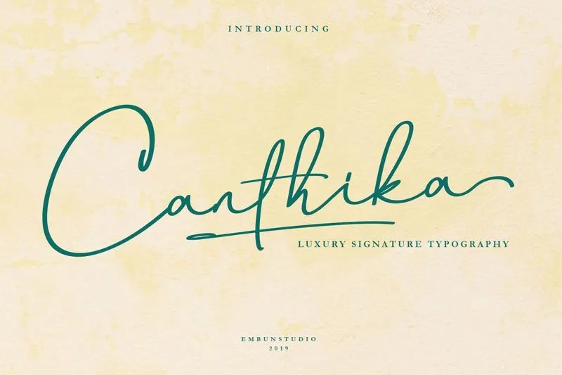 Canthika [1 Font] | The Fonts Master