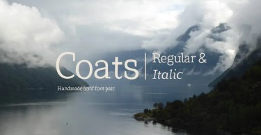 Coats Regular & Coats Italic [2 Fonts]
